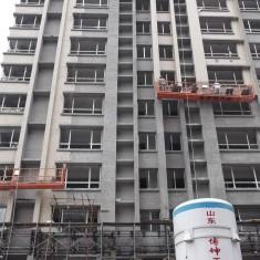 大型建筑喷涂吊篮平台施工案例